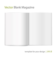 Blank magazine on white background Template vector image