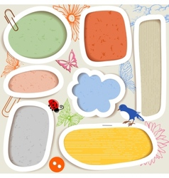 cute paper frames vector image vector image