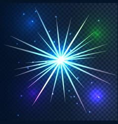 glowing star light on transparent background vector image vector image