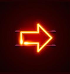 heon sign arrow right signboard vector image vector image