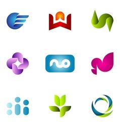 logo design elements set 57 vector image