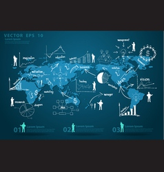 Modern global business economy vector
