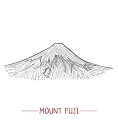 mount fuji in hand drawn style vector image