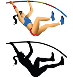 pole jump vector image vector image