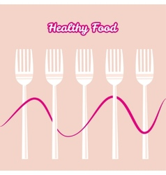 tableware set of fork vector image vector image