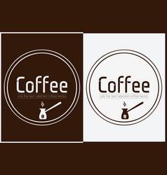 coffee shop logo design labels template vector image vector image