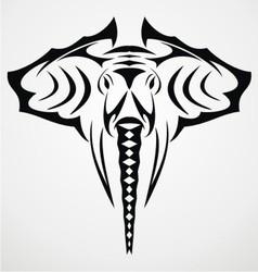 Elephant Head Tattoo Design vector image