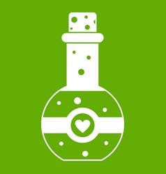 flask of love elixir icon green vector image