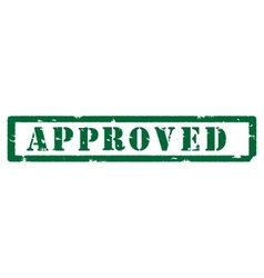 Green stamp approved vector image