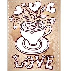 Hand drawn cup vector image vector image
