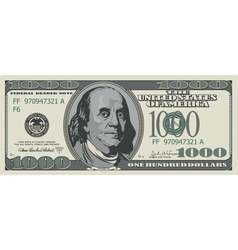 One thousand dollars vector image vector image