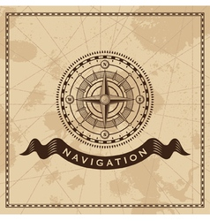 Wind Rose - Nautical compass design element vector image vector image