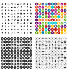 100 help icons set variant vector