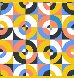 abstract circles and square seamless pattern vector image