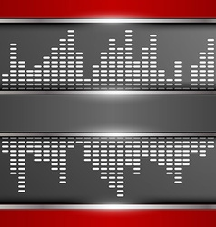 Abstract digital equalizer background vector