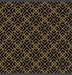 Abstract seamless pattern geometric line gold vector