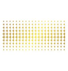 Aircraft golden halftone pattern vector