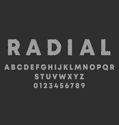 alphabet letters and numbers radialr design vector image