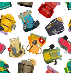 Backpack rucksack travel tourist knapsack outdoor vector