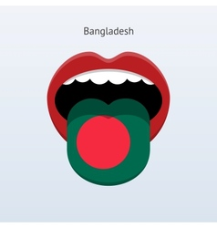 Bangladesh language abstract human tongue vector