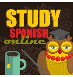Banner for the spanish class vector image