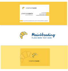 beautiful bun logo and business card vertical vector image