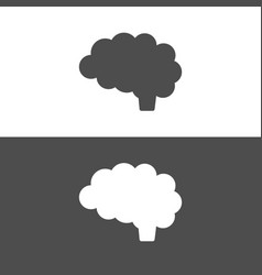 brain icon on dark and white background vector image