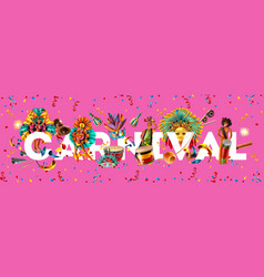 brazil carnival background vector image
