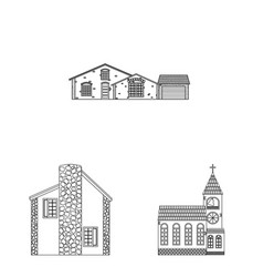 Building and front symbol vector