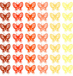 butterfly wallpaper on white background vector image
