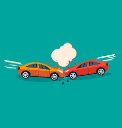 Car crash banner vector