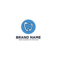 Care teeth dental logo design vector