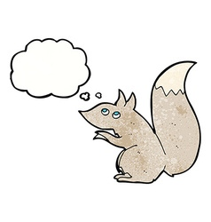 cartoon squirrel with thought bubble vector image