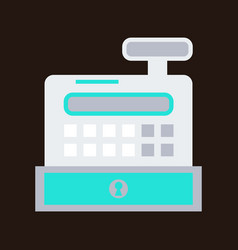 cash register in flat style money and finance vector image