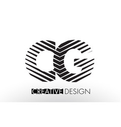 Cg c g lines letter design with creative elegant vector