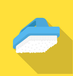 Cleaner brush flat icon for web and vector