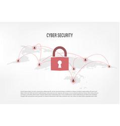 closed padlock on internet hacker background vector image