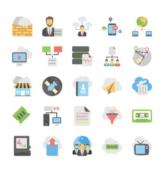 Cloud computing icons set 7 vector