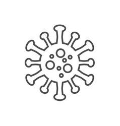 coronavirus covid19-19 thin line icon vector image