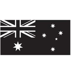 Correct accurate black and white flag australia vector