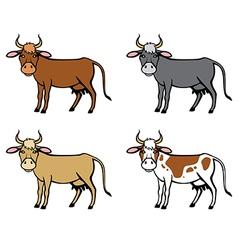 Cow color vector