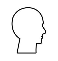 cyber humanoide profile icon vector image