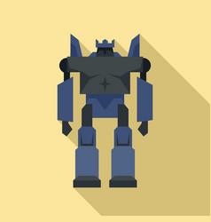 cyborg robot transformer icon flat style vector image