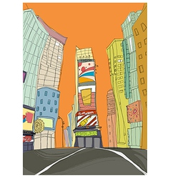 Downtown creative scene vector