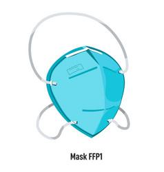 facial mask ffp1 health care and medicine vector image