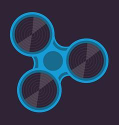 Fidget spinner spin roller vector