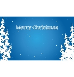 Flat backgrounds Merry Christmas spruce vector