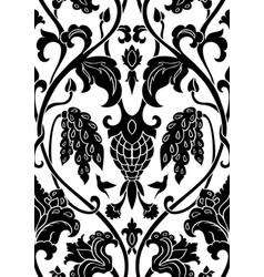 Floral black pattern vector