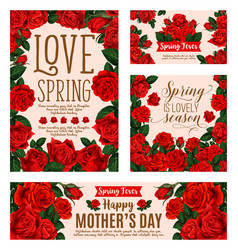 Flower card for spring season or mother day design vector