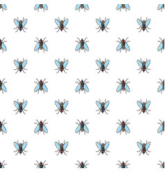 Fly seamless pattern for textile design wallpaper vector